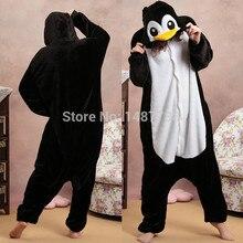 Kigurums New Winter Anime Pajamas Adult Animal Black Penguin Cosplay Pajamas Sleepwear Costume Unisex