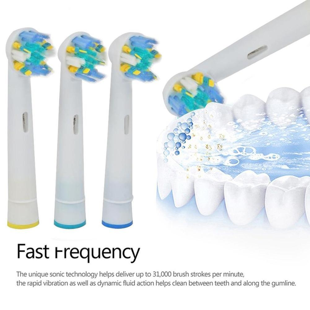 4pcs/lot Replacement Toothbrush Heads For Braun Oral-B Nozzles Bristle Fit Professional Care SmartSeries/TriZone/Advance Power