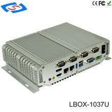 Встроенный ПК сервер для монтажа в стойку корпус компьютера и башня Intel Core I7-3537U Поддержка 6 lan, мини-ПК