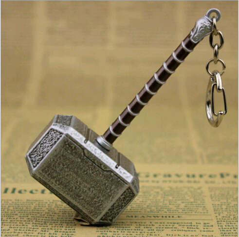 Marvel Super Hero Key Ring Thor's Hammer Keychains Alloy Metal Pendant Keychain Thor Cosplay 10 pcs/lot - Miss Katelyn's Shop store