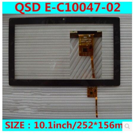 Новый 10.1 дюймов tablet емкостный сенсорный экран QSD E-C10047-02 бесплатная доставка