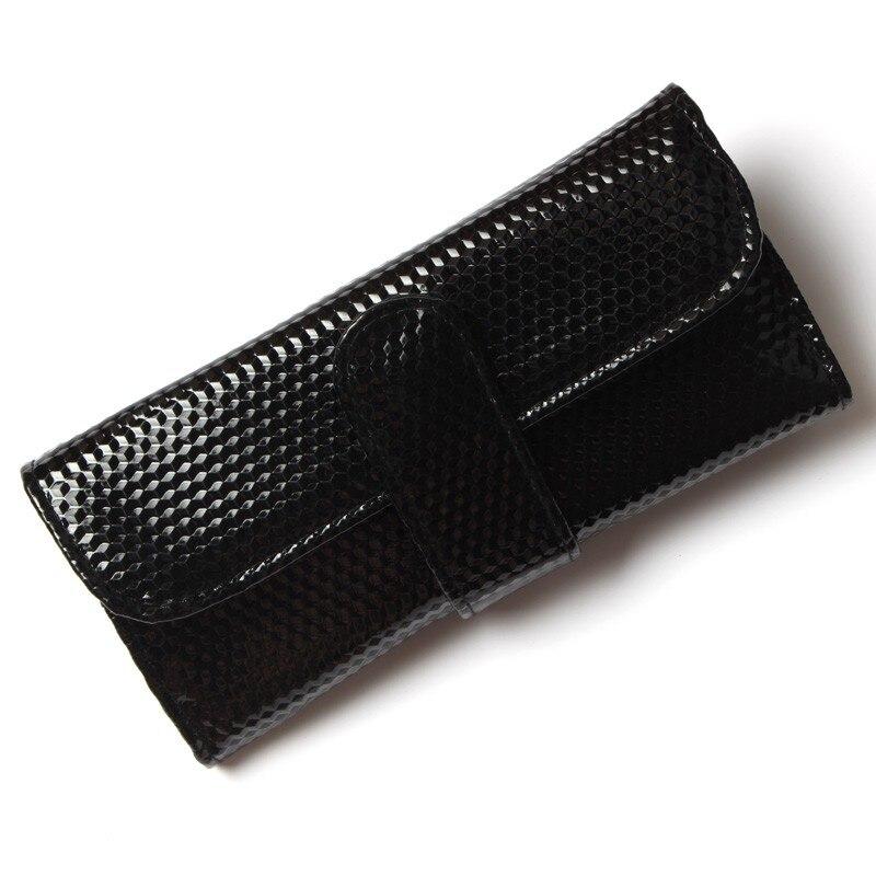 7 шт. Профессиональные кисти для макияжа Косметические кисти с Черный кожаный чехол
