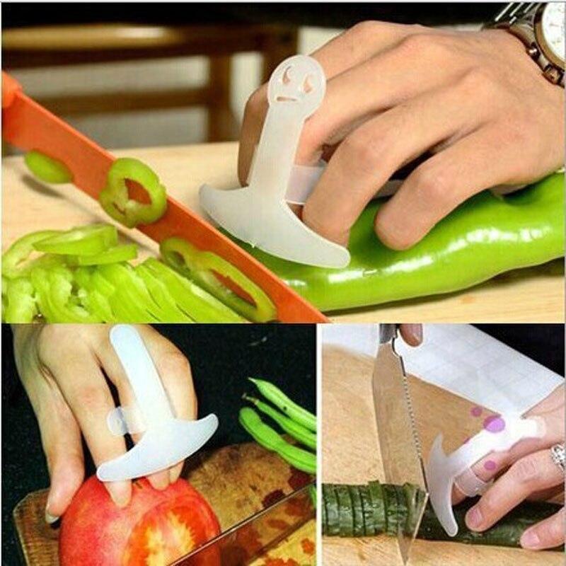 2 шт. в партии, пластиковая защита для пальцев, нож для овощей, инструмент для резки, полезный инструмент для защиты пальцев, смайлик, защита р...