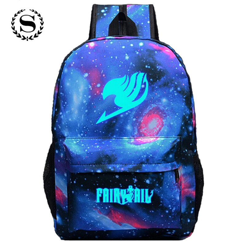 Fairy Tail Printing Women Backpack Anime School Bags for Teenagers Girls Cartoon Travel Nylon Bag Mochila Galaxia Rucksack 122t 16 inch anime game of thrones backpack for teenagers boys girls school bags women men travel bag children school backpacks gift