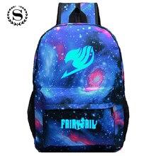 Fairy Tail Printing font b Women b font Backpack Anime School font b Bags b font