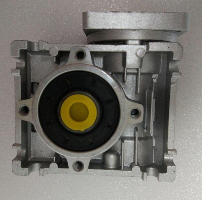 NMRV030 57mm schneckengetriebe reducer setzung 5:1 zu 80: 1 eingang 11mm welle für NEMA23 stepper motor