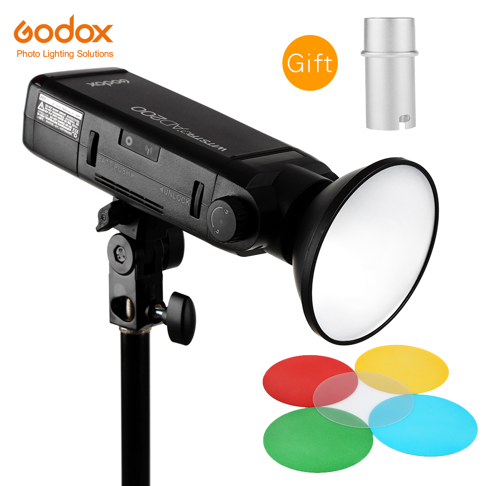 GODOX AD200 TTL 2 4G HSS 1 8000s Flash Light Double Head 200Ws with 2900mAh Lithium