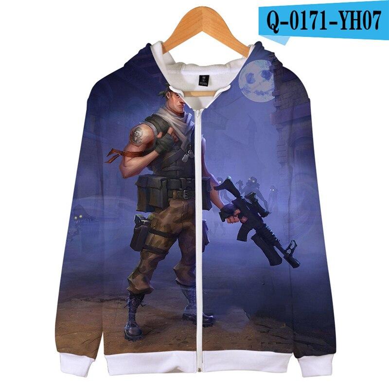 Fortnit Battle Royale Zipper Sweatshirt 2019 Sweatshirt 3D Print Game Clothes Game Battle Royale Clothes Kid Clothes Streetwear