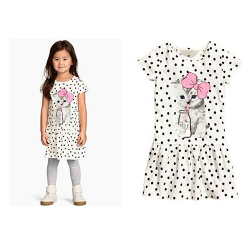 88fc5b7b65084 Robe De Ceremonie Enfant Fille Cartoon Girl Dresses Vestidos Para Ninas Cat  Cute Nova Kids Dress For Girls-in Dresses from Mother   Kids on  Aliexpress.com ...
