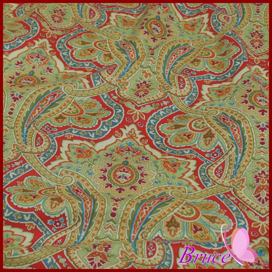 1 piece lot 140 50cmgreen retro totem series fabrics for for Retro fabric