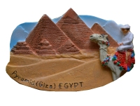 Egyptian Pyramids Hand Painted Aromatherapy 3D Fridge Magnets World Travel Souvenirs Refrigerator Magnetic Sticker
