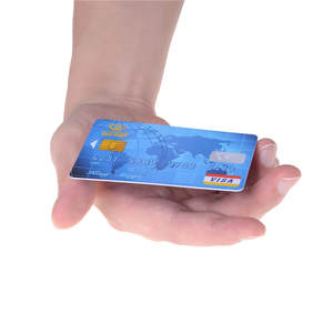 Tricks Magic-Accessories Card-Magic Floating Credit-Card Transparent-Bar Close-Up 2pcs