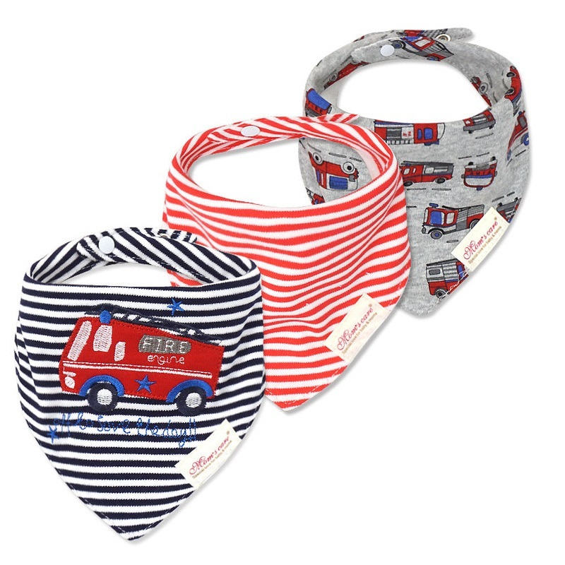 3pcs / lot Baby Bibs Bandana Lot 100% Cotton High Quality Babadores Para Bebe Baby Saliva Tuala Untuk Boys And Girls KF025