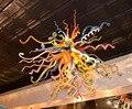 Ручная выдувная стеклянная люстра красочное современное световое художественное украшение