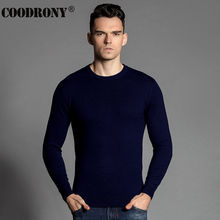 COODRONY Free Shipping Winter Soft Warm Sweater Men 100% Real Cashmere Sweaters Merino Wool Pullover Men O-Neck Pull Homme 6302