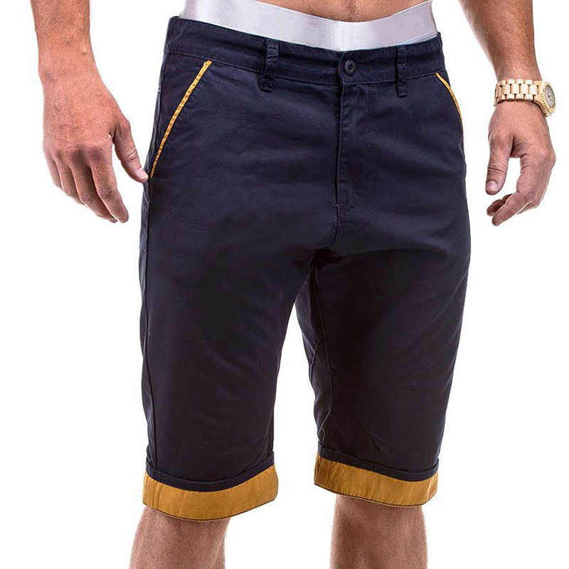 M-3XL New Brand Summer Mans Casual Cargo Shorts Patchwork Work Short Pants Pockets Shorts Holiday Beach Short-Pants Plus Size