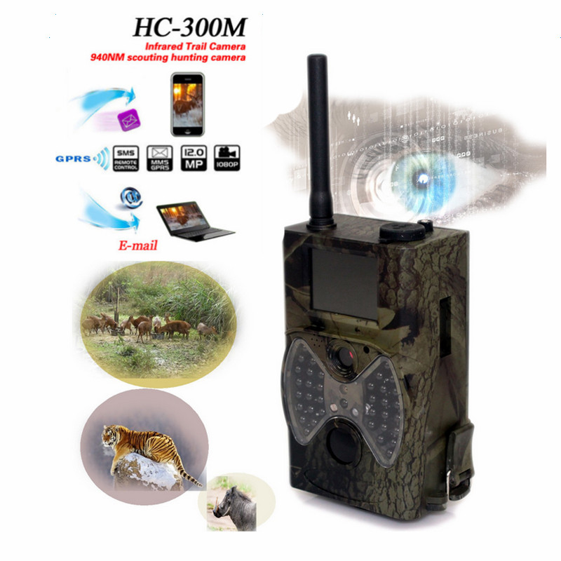 Skatolly HC300M Digital Scouting infrared Hunting Camera 12MP 940nm MMS GPRS Night Vision Trap Game Wildlife hunter Trail Cam digital 940nm hunting camera invisible infrared 12mp scouting trail camera 2 4 lcd hunter cam s660
