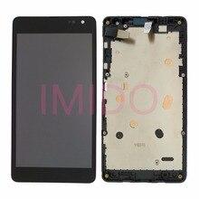 ل نوكيا Lumia 535 RM 1090 النسخة 2 S 2C شاشة الكريستال السائل + مجموعة المحولات الرقمية لشاشة تعمل بلمس + إطار استبدال أجزاء