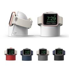 Подставка для зарядки для Apple watch Series 1 2 3 4 44 мм 42 мм 40 мм 38 мм силиконовый кронштейн для iWatch настольная подставка