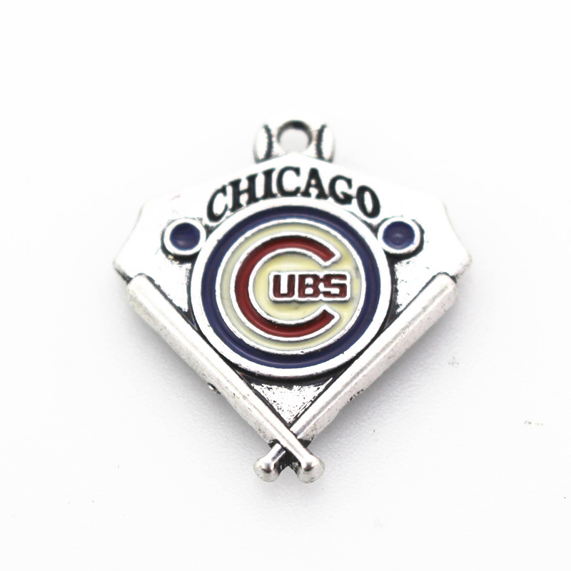 20pcs lot Sports MLB Chicago Cubs USA Baseball Team Dangle Charms For Bracelet Necklace Floating Charms