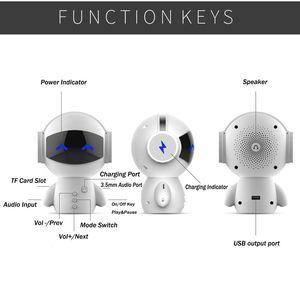Image 5 - Hot przenośny Robot z kreskówki Mini głośniki z Bluetooth bezprzewodowy odbiornik Bluetooth głośnik stereofoniczny odtwarzacz muzyczny