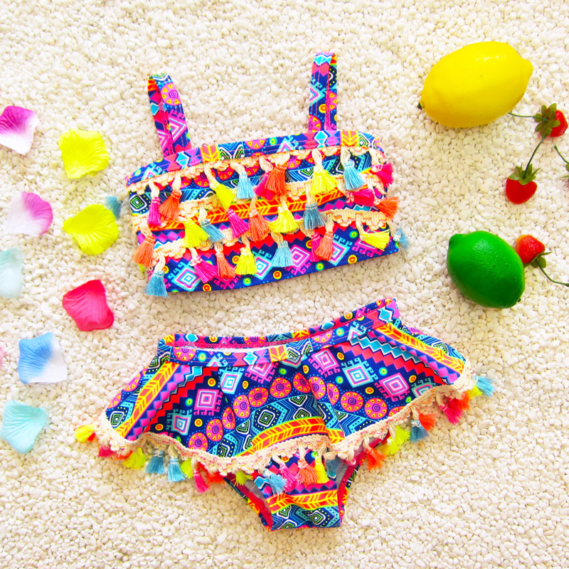 Girls Bikinis 2019 Children Bikini Swimwear Swimsuit Baby Kids Swimsuit Girl Beach Fission Swimsuit Infantiles Costumes Bikini