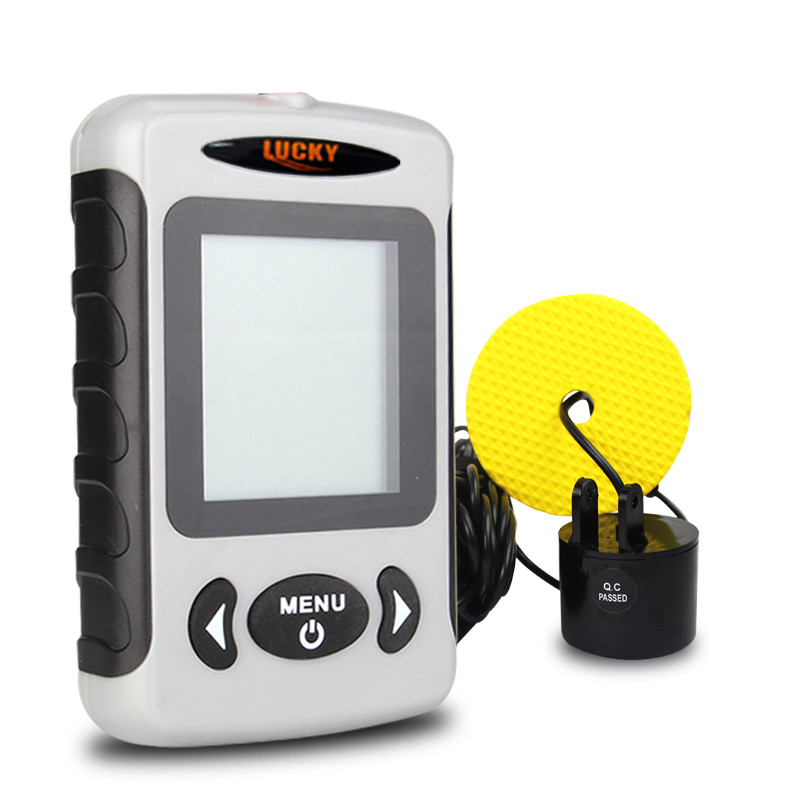 LUCKY Fish Finder 3 Language Russian English German Menu 100m Depth Portable Wired Fishfinder Sonar Sounder Alarm FF718 in Fish Finders from Sports Entertainment