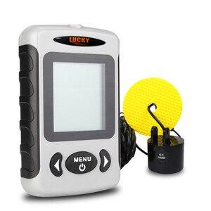 Image 3 - LUCKY Fish Finder 3 Language Russian English German Menu 100m Depth Portable Wired Fishfinder Sonar Sounder Alarm FF718