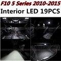 19 pcs X frete grátis Livre de Erros eaccessories LED Interior Luz Kit Pacote para BMW F10 2010-2015