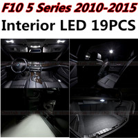 19pcs X Free Shipping Error Free LED Interior Light Kit Package For BMW F10 Eaccessories 2010