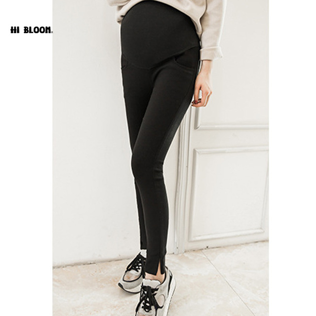 Elastic Waist Cotton Maternity Jean Belly Pants For Pregnancy Clothes For Pregnant Women Legging High Waist Skinny Trousers