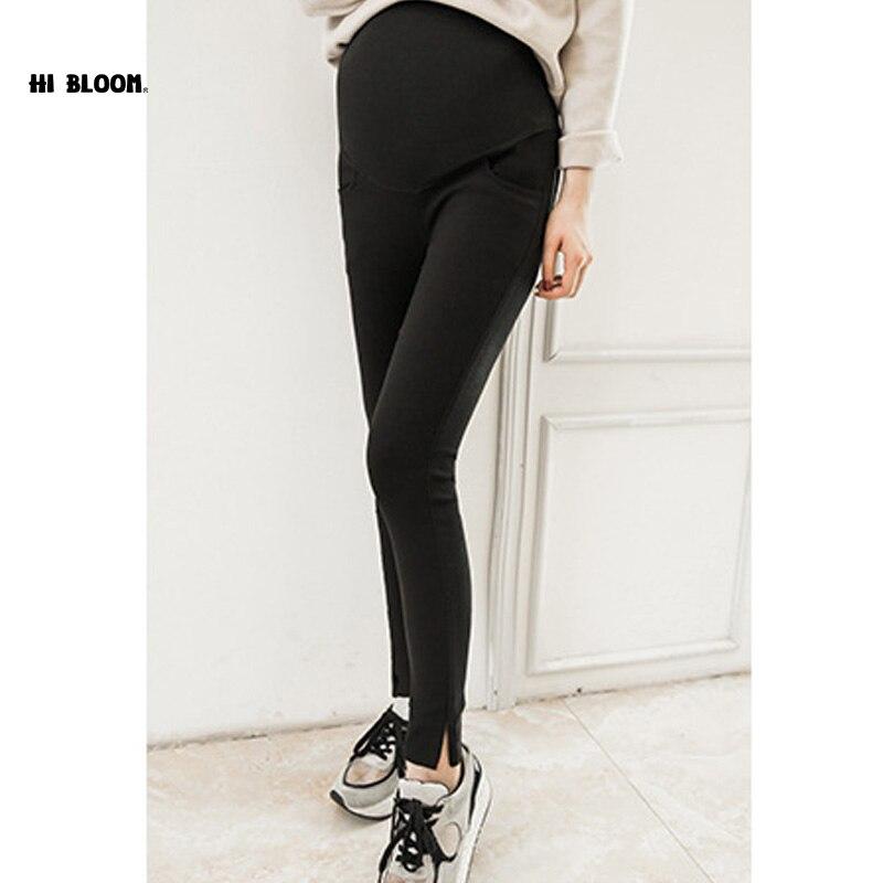 Taille élastique Coton De Maternité Jean Pantalon Ventre Pour La Grossesse Vêtements  Pour Les Femmes Enceintes Legging Taille Haute Maigre Pantalon caa0b39c136