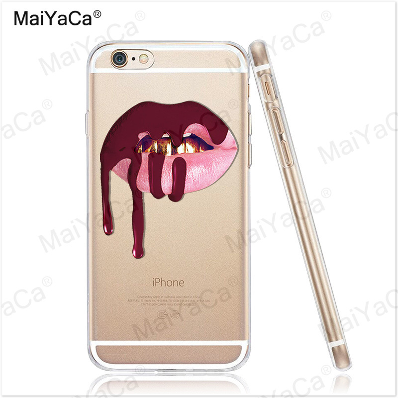 MaiYaCa phone cases Graffiti Girl Kylie Lips Soft Transparent TPU - Mobile Phone Accessories and Parts - Photo 2