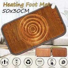Chauffe pieds tapis chauffant électrique bureau pieds chauds Thermostat coussin chauffant maison tapis de sol chauffant 50x30cm