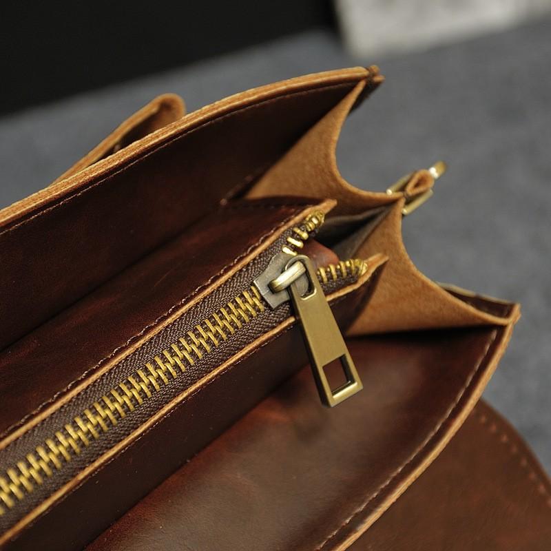 Vintage Men Business Real Genuine Leather Briefcase Travel Causal Shoulder Messenger Portfolio Laptop Bags Lawer Handbag Bolsa (17)