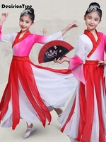 2019 new girl folk dance dress tradition russian performance girls dance costume short sleeve dancewear clothing