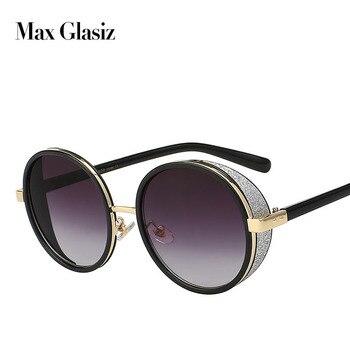 d419603a86 2018 gafas de sol redondas Retro de moda Vintage para mujer con forma de  círculo reflectante para damas femeninas