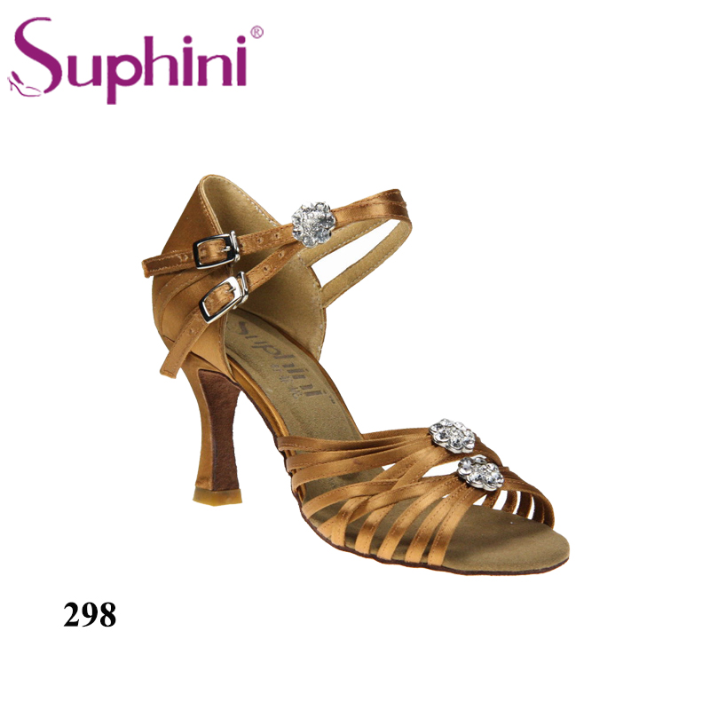 цена на Free Shipping 2017 Suphini High Cost Performance Latin Shoes, Hot sale Dance Shoe, High Heel Lady Salsa Dance Shoes