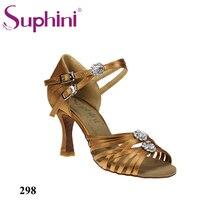 Free Shipping 2017 Suphini High Cost Performance Latin Shoes Hot sale Dance Shoe High Heel
