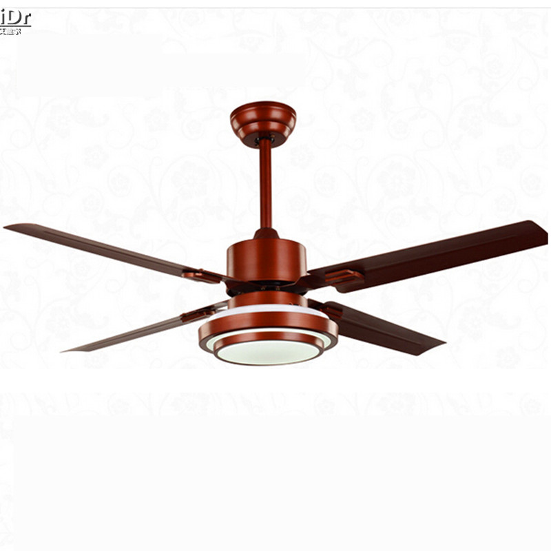 modern fan ye iron lamp leaf living room dining room den bedroom lamp hall 52 inch ceiling fans. Black Bedroom Furniture Sets. Home Design Ideas