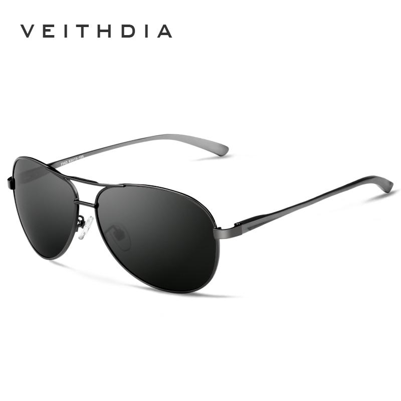 VEITHDIA Brand Designer New Mens Polarizerd Sunglasses Men Classic Sun Glasses Eyewear Accessories For Men Oculos de grau 2563