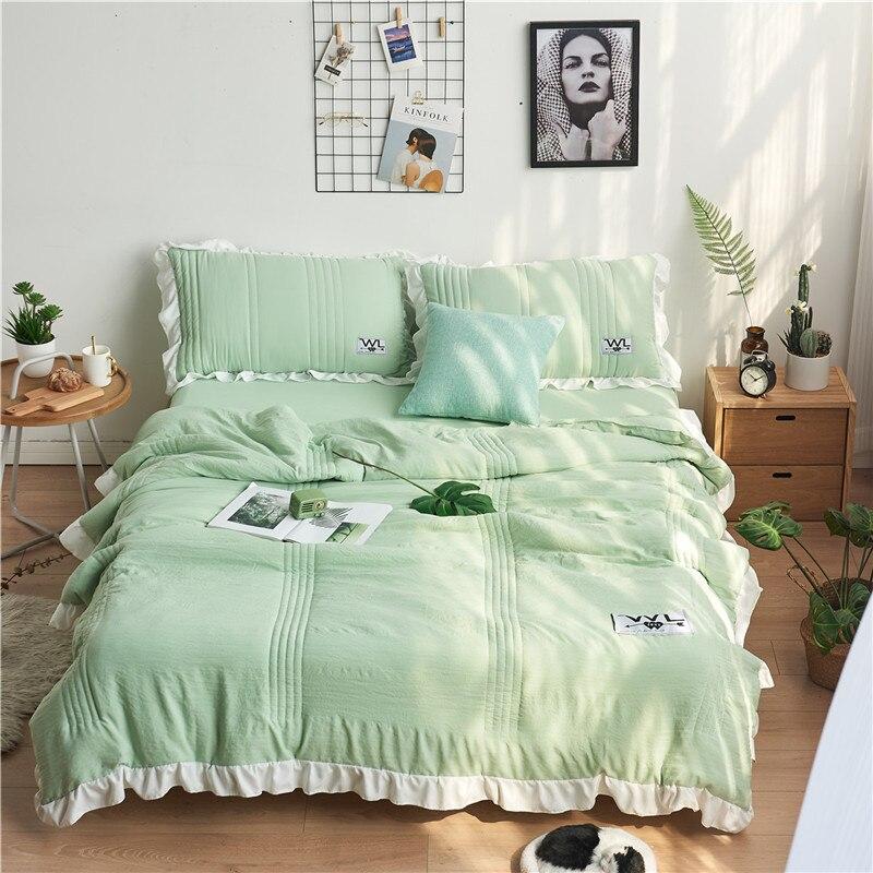 4 pièces ensembles de literie été couette housse de couette taies d'oreiller couvre-lit Air-Condition couette enfants Cool sentiment