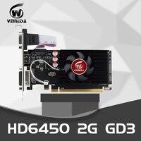 Veineda Graphics Cards Original GPU HD6450 2GB DDR3 64Bit HDMI VGA Video Cards PCI Express For ATI Radeon Gaming