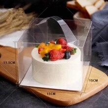 10 шт./набор из прозрачного пластика подставка для торта из бумаги для выпечки печенья упаковывая украшение хлебобулочных мини пирожные, маффины контейнер Коробки