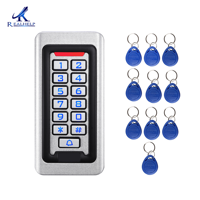 2000Users IP68 Waterproof  Metal Stainless Steel RFID Access Control Keypad ID Card Reader Security 12V/24V DC And AC