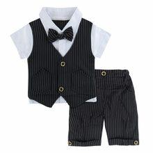 82872985c Bebé recién nacido ropa de caballero traje Formal boda bautismo traje de  bebé de la ropa