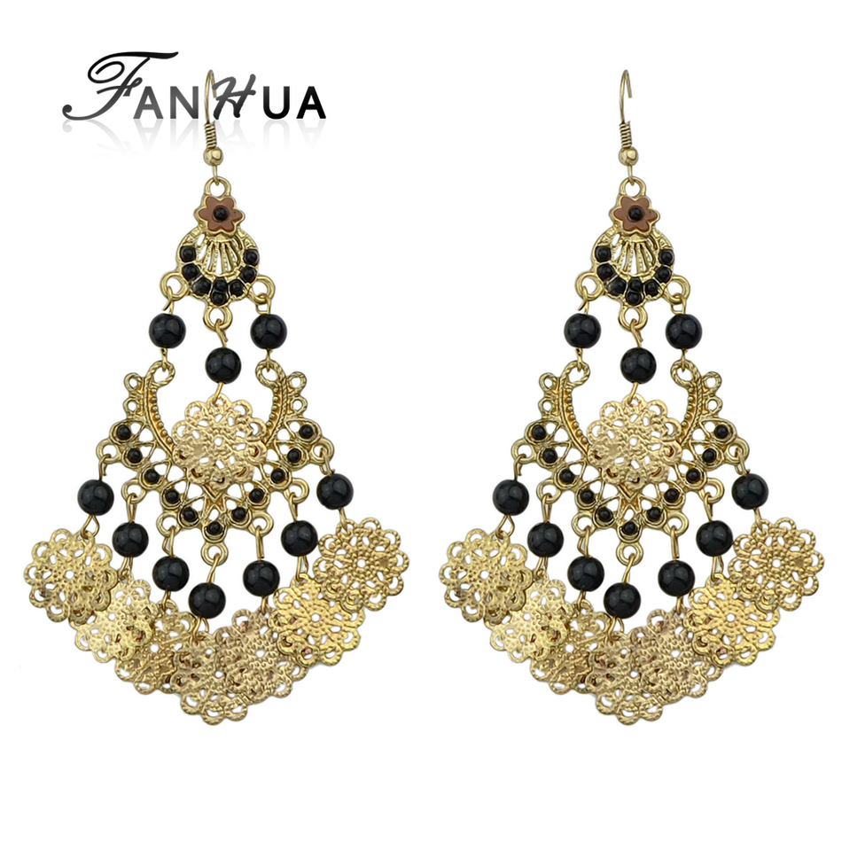 FANHUA New Coming Gold color with Colorful Hollow out Geometric ...