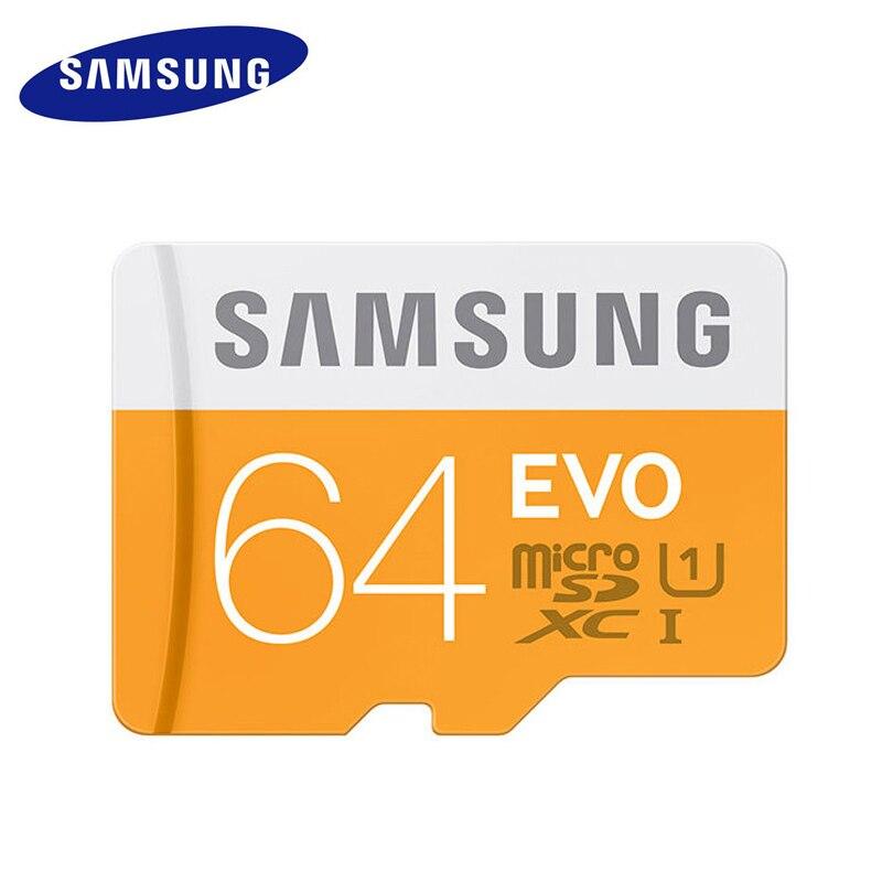 SAMSUNG Micro SD Carte Mémoire 64 GB 32 GB MicroSD samsung 100 mb/s carte mémoire 32 gb 64 gb 128 gb class10 u1 microsd carte micro sd