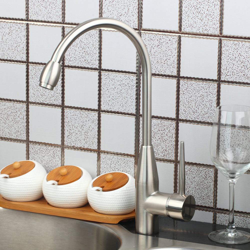 Simple Grand Kitchen Faucet Chrome Polished Single Handle Pull Down Hot Cold Water Excellent Pretty Kitchen Faucet torayvino style kitchen faucet chrome polished deck mounted single handle hot cold water beautiful eminent kitchen faucet