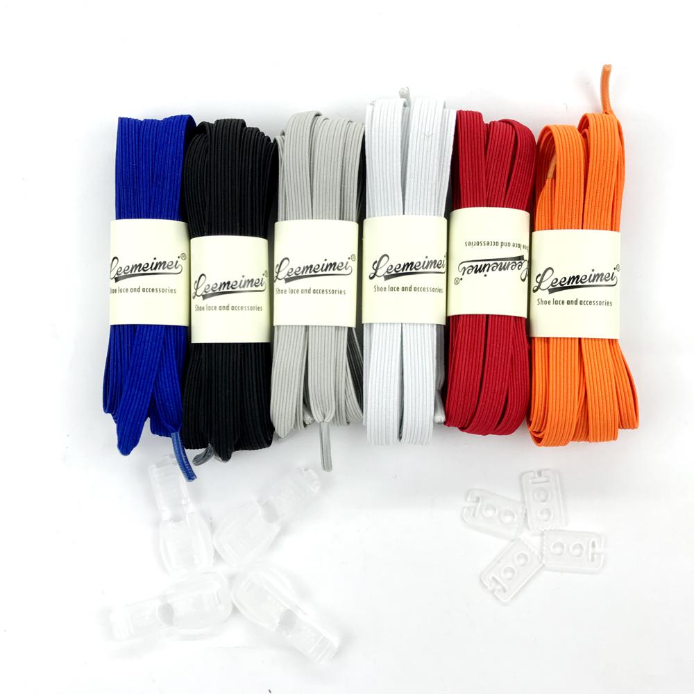 1 pair 100 CM di Stretching Bloccaggio Pigro lacci della scarpa da tennis  di Gomma Elastica bambini Blocco elastico shoestring Piatto lacci delle ... 2725e0991fe